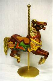 1000: Early Carved Carousel Horse with Glass Eyes