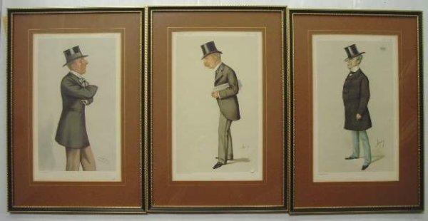 1308: 3 Vanity Fair Spy Prints