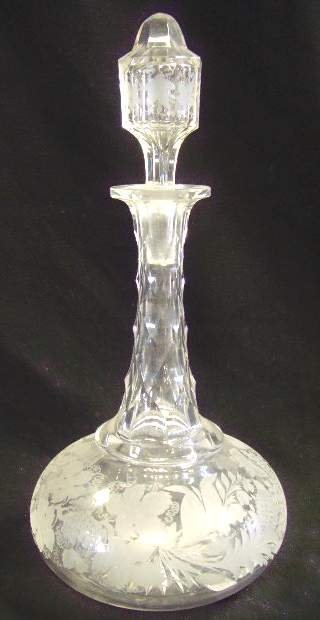 1311: Etched Glass Decanter