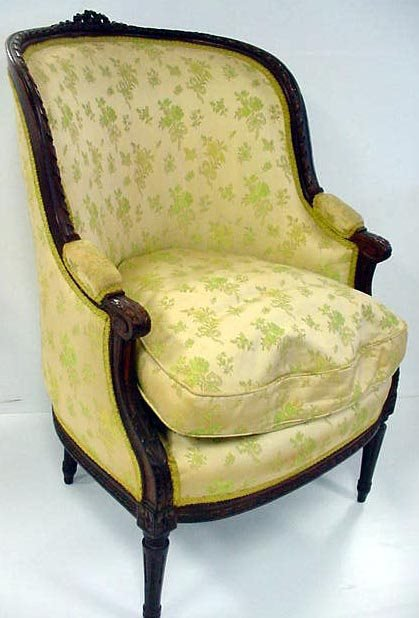 183: CARVED FRENCH WINGCHAIR