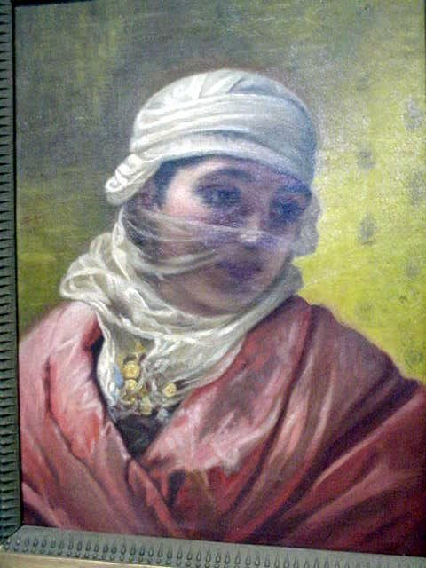 250: UNSIGNED 19TH CENTURY OIL ON CANVAS OF A WOMAN
