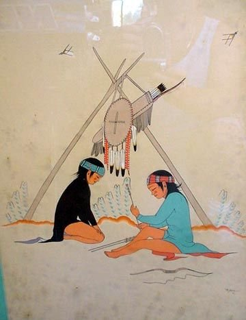 14: PAIR OF SIGNED INDIAN WATERCOLORS