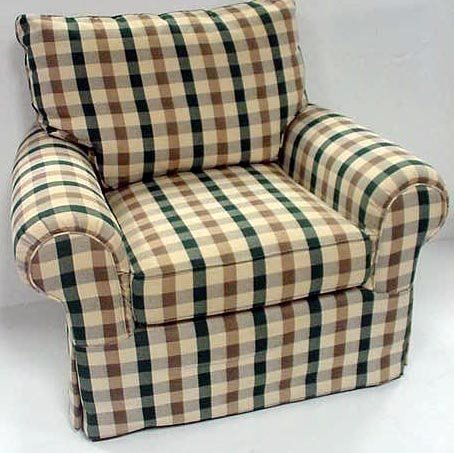 420: MICHAEL THOMAS UPHOLSTERED CLUB CHAIR