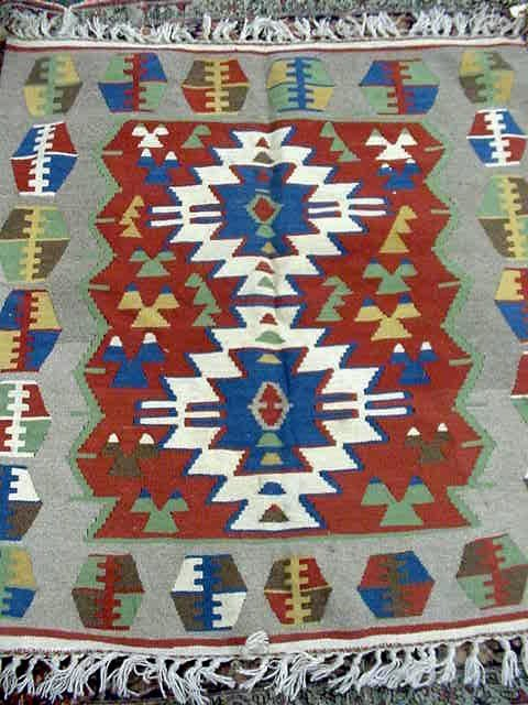 103: ANTIQUE HANDMADE NAVAJO  TYPE CARPET