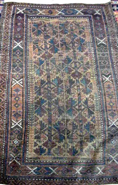 104: ANTIQUE CAUCASIAN PERSIAN CARPET