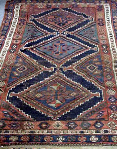 105: ANTIQUE CAUCASIAN PERSIAN CARPET