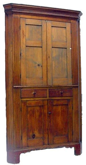 122A: 122A: EARLY COUNTRY PINE NJ CORNER CABINET