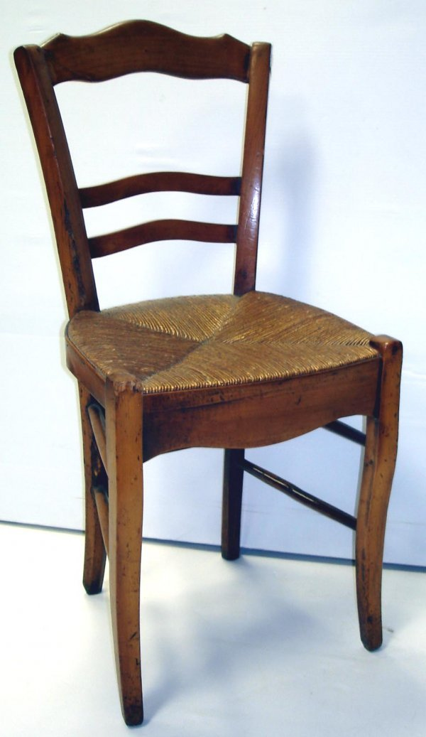117: EARLY  PERIOD FRENCH COUNTRY SIDE CHAIRS SET OF 4