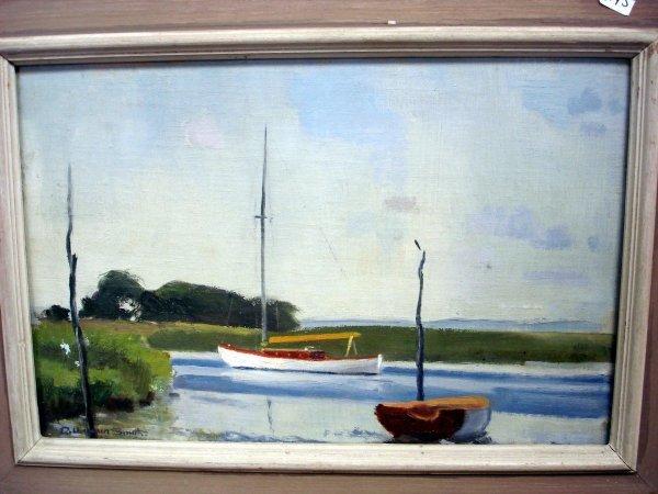 121: R. HARMER SMITH OIL ON BOARD