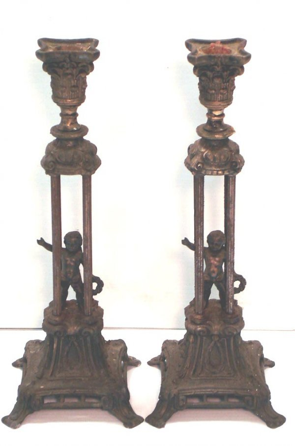 101: PAIR OF FIGURAL CANDLESTICKS