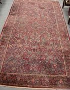 600A: ANTIQUE PERSIAN RUG RARE SIZE SAROUK""
