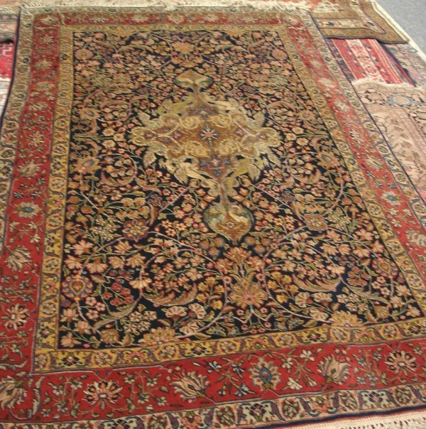 "604: 4'5"" X 7' ANTIQUE HANDMADE PERSIAN RUG"
