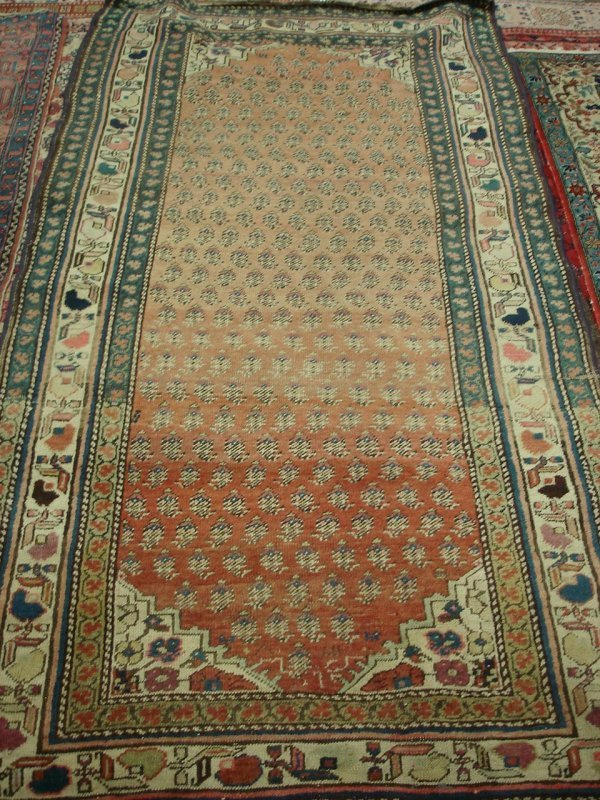 "606: 3'6"" X 7'1"" ANTIQUE CAUCASION HANDMADE PERSIAN RUG"