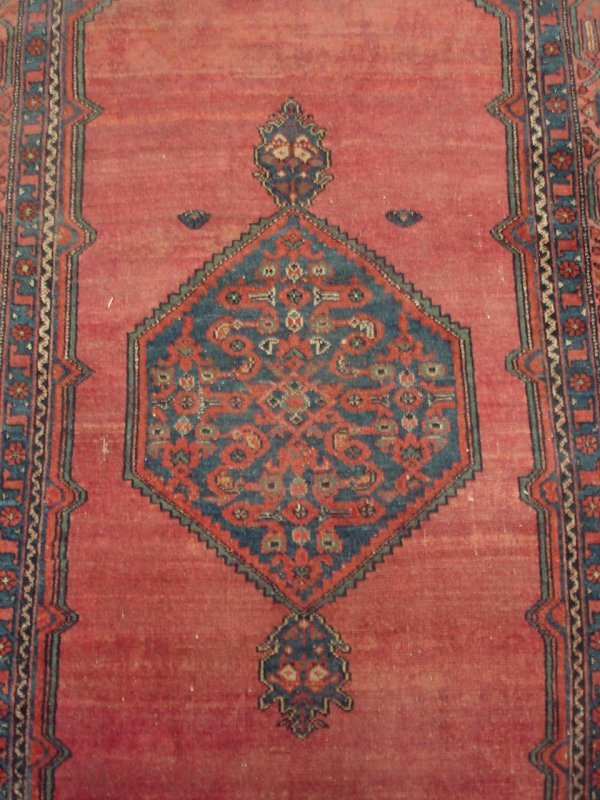"607: 3'6"" X 6'9"" ANTIQUE HANDMADE PERSIAN RUG"