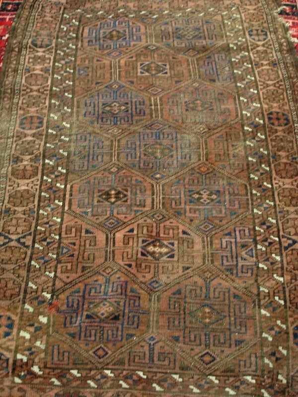 "609: 3'5"" X 5'8"" ANTIQUE HANDMADE PERSIAN RUG"