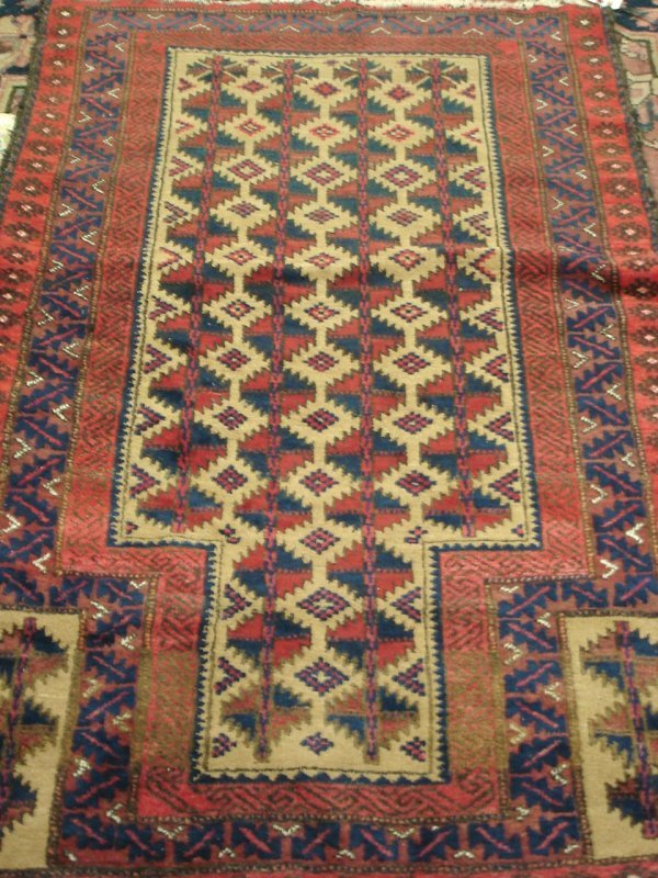 "614: 2'9"" X 4'3"" ANTIQUE HANDMADE PERSIAN RUG"