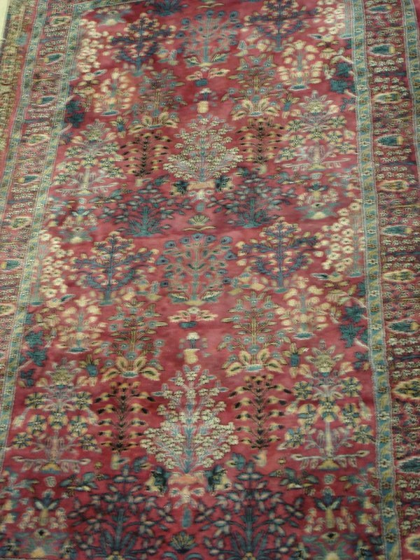 618: ANTIQUE HANDMADE PERSIAN RUG 4'11 X 8'7""