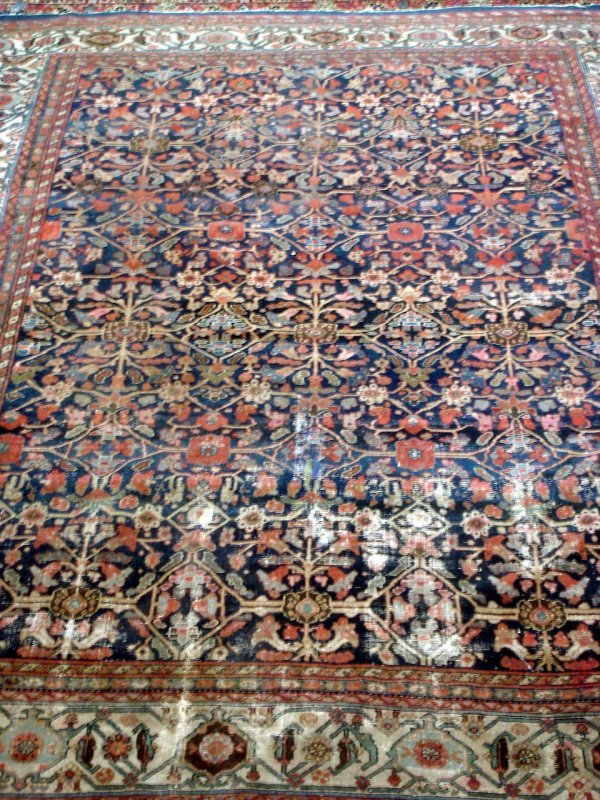 "619: ANTIQUE MAHAL RUG 8'6"" X 10"""