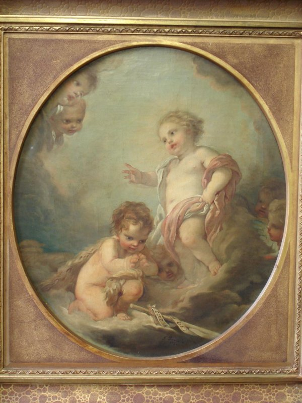 708: F. BOUCHER SIGNED OIL ON CANVAS IMPORTANT