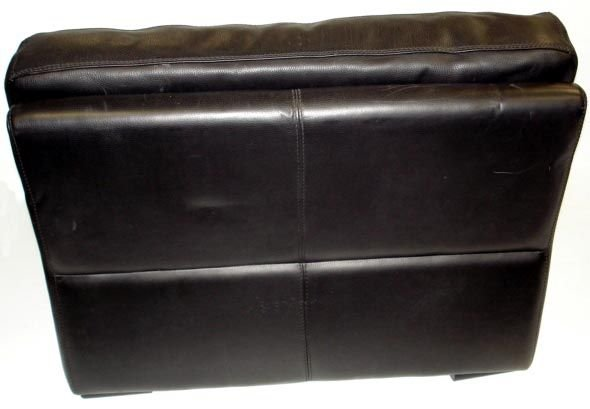 1008: ROCHE BOBOIS DESIGNER LEATHER CHAIR WITH OTTOMAN - 3