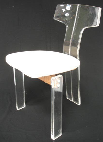 101: SET OF 4 LUCITE CHAIRS