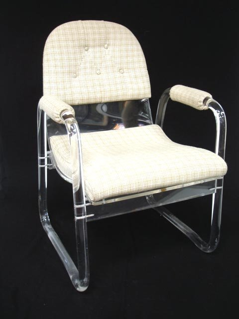 102: PAIR OF LUCITE ARM CHAIRS