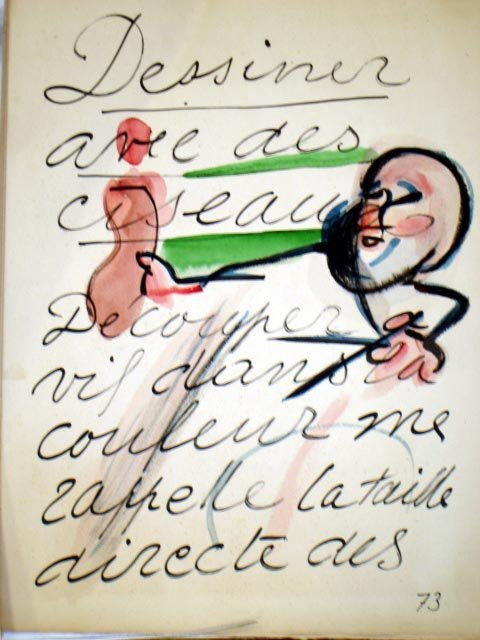 114: MATISSE JAZZBOOK/ WATERCOLOR GROUP DATED '37