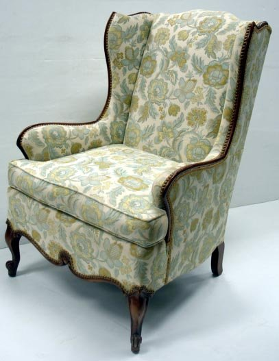 701: COUNTRY FRENCH UPHOLSTERED WING CHAIR