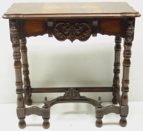 703: INLAID ART DECO SIDE TABLE