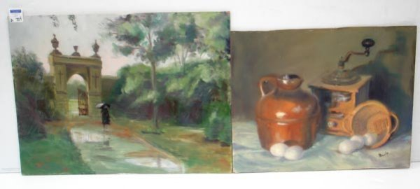 704: TWO OIL ON BOARDS BOULT