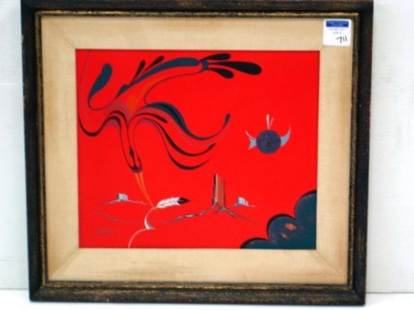 711: CHETLAHE - SIGNED CONTEMPORARY OIL ON BOARD