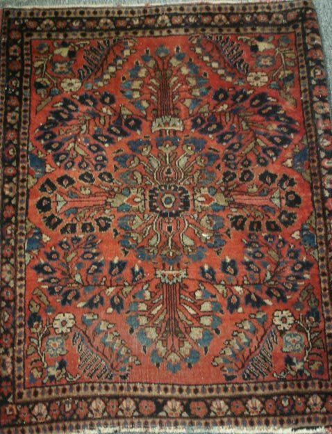 263: 22 X 29IN ANTIQUE PERSIAN SCATTER RUG