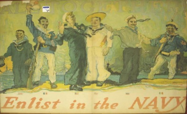 814: EARLY NAVAL RECRUITING POSTER H.HH.REUTERDAHL