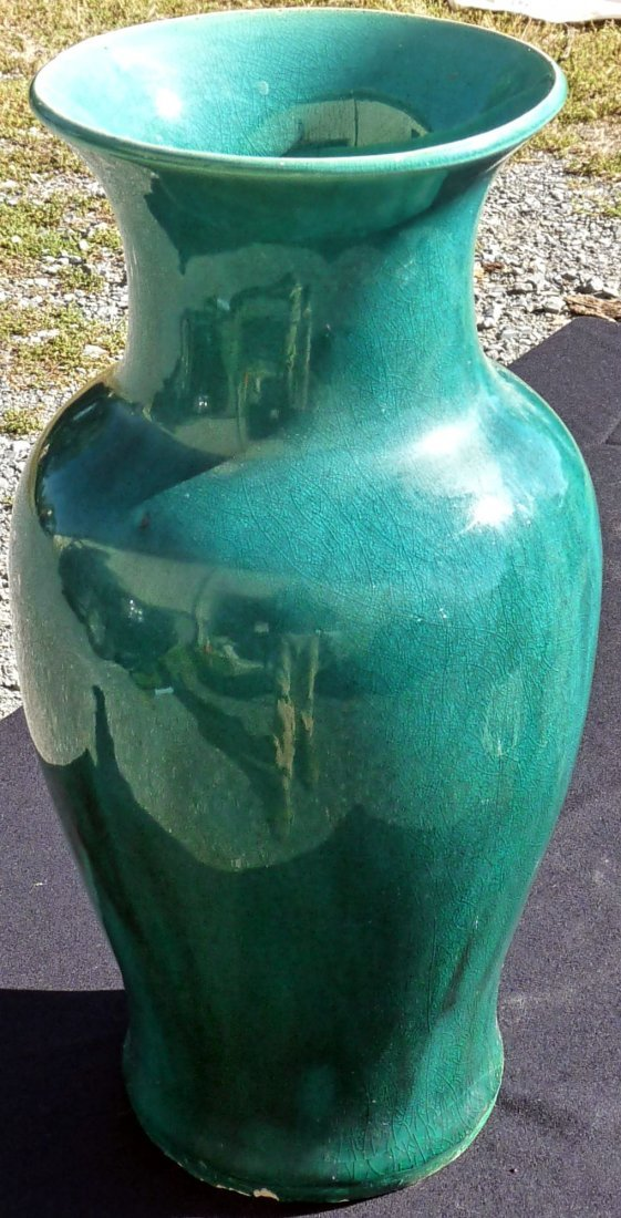 Chinese export Emerald Green Vase