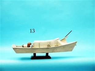 MINIATURE SCULLING BOAT MODEL  by Jim Autin. Excellent