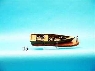 MINIATURE LAYOUT BOAT by D.  Stavely. Excellent