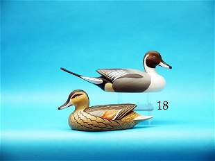 ONE-HALF SIZE PAIR OF PINTAILS  by Barry Fuchs,