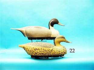 OVERSIZED PAIR OF PINTAILS by the  Wildfowler Decoy
