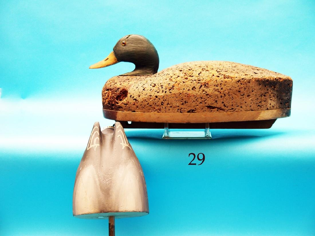 MALLARD DRAKE by the Wildfowler  Decoy Co., Old