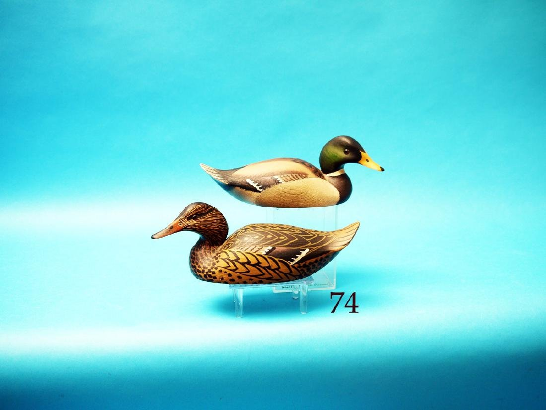 FINE PAIR OF ONE-THIRD SIZE  MALLARDS by William