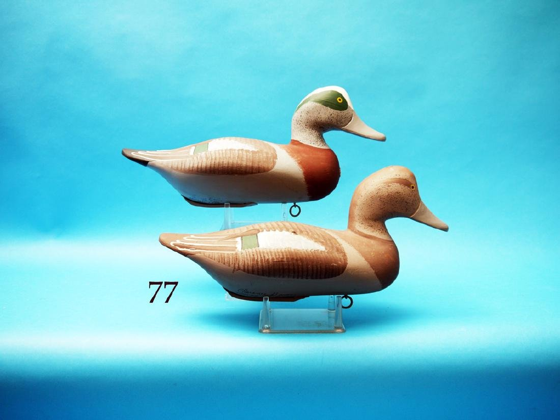 "RARE PAIR OF WIDGEON by Clarence  ""Titmouse"" Bauer,"