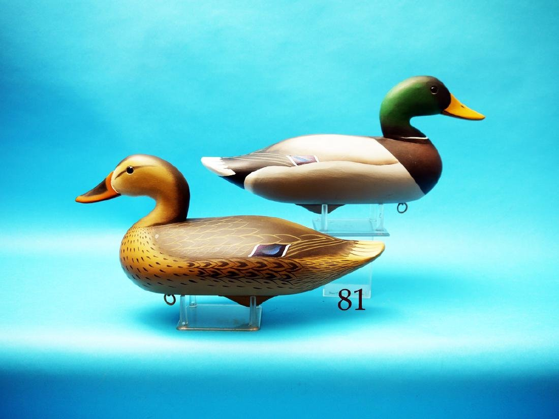 VERY FINE PAIR OF MALLARDS by  Charlie Joiner,