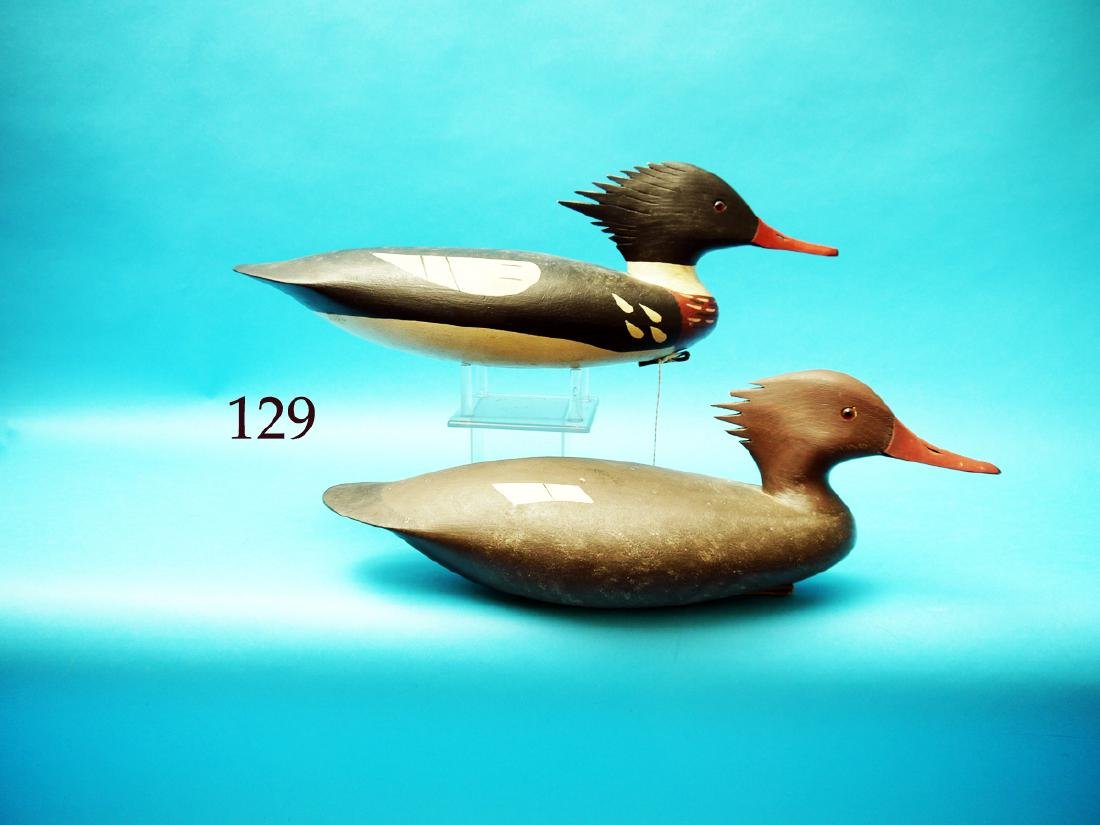 PAIR OF RED-BREASTED MERGANSERS  by John Hamilton,