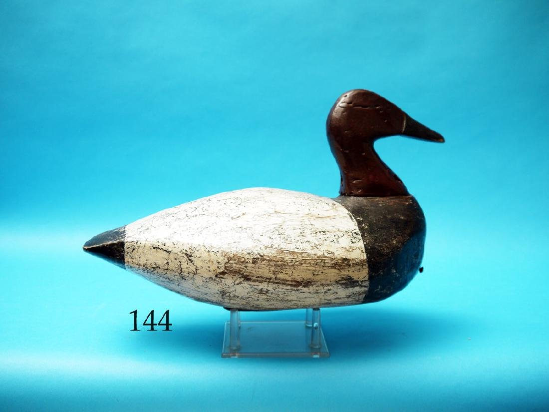 CANVASBACK DRAKE BATTERY  DECOY by Linwood Dudley,