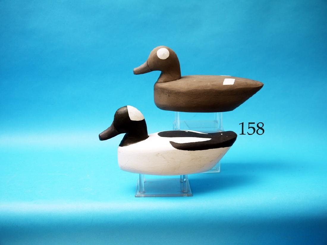FINE PAIR OF BUFFLEHEADS by  Eldon Willis, (1908-1981),
