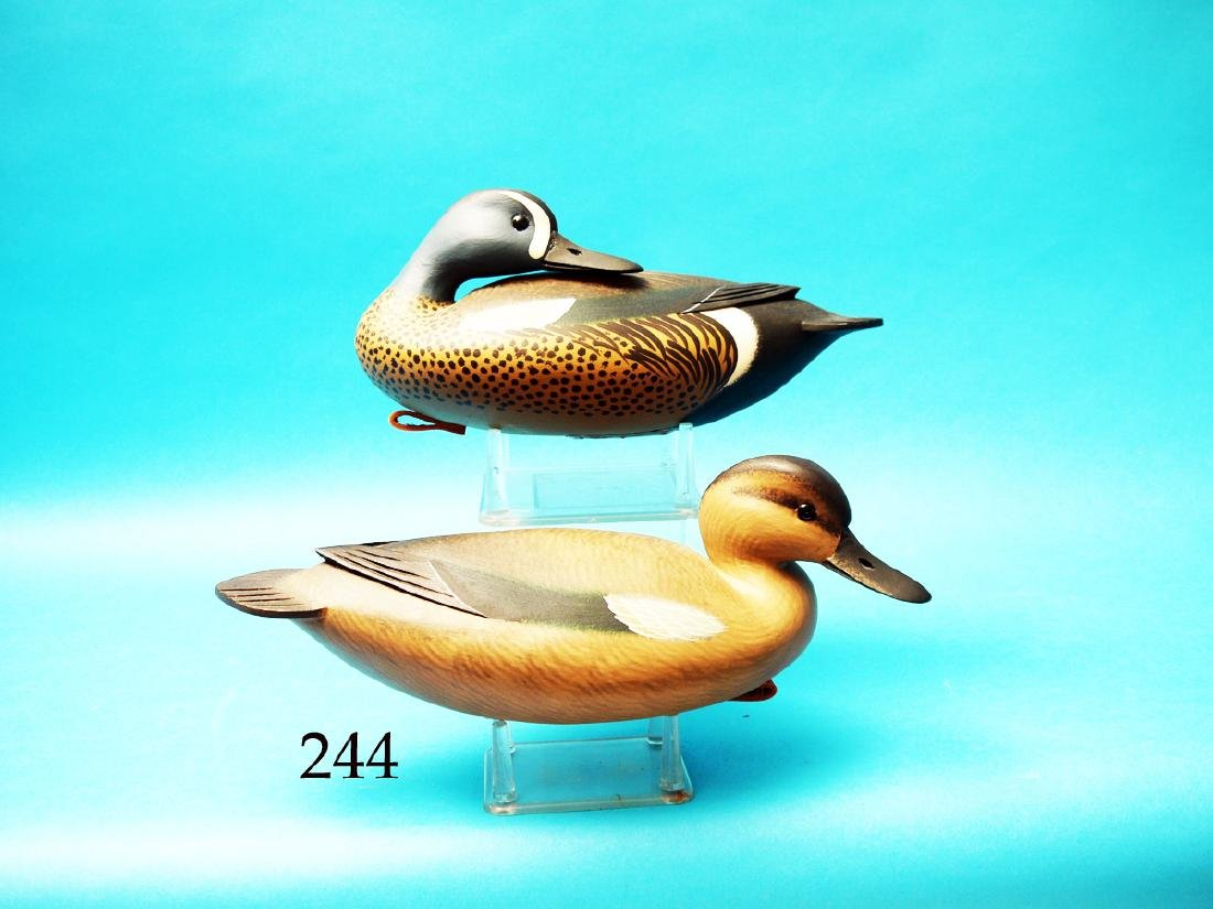 DAINTY PAIR OF BLUE WING TEAL  by Fredrick C. Brown,
