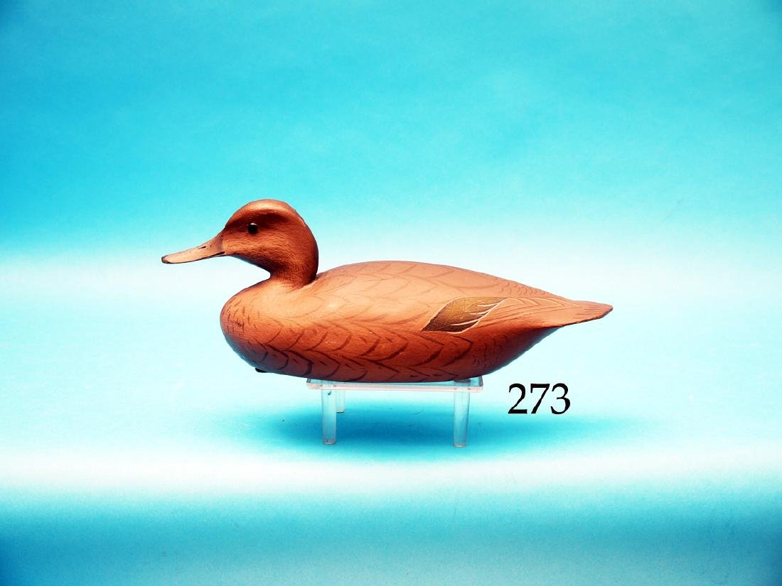 EARLY GUNNING GREEN WING  TEAL HEN by George Strunk,