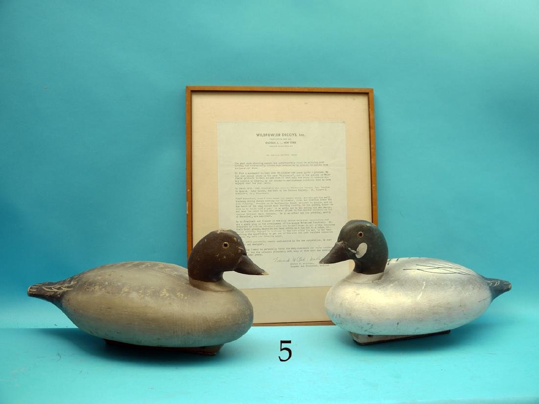 PAIR OF GOLDENEYES by the Wildfowler Decoy Co., Pt.