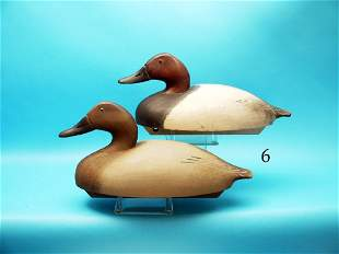 FINE AND RARE PAIR OF CANVASBACKS by the Wildfowler