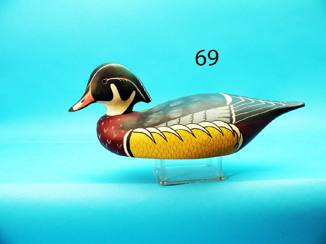WOOD DUCK DRAKE by the Wildfowler Decoy Co., Pt.